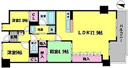 メゾンフルール関目 6階3LDKの間取り