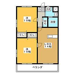 ラフォーレ駒形[3階]の間取り
