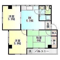 レジデンス香川I[202号室]の間取り