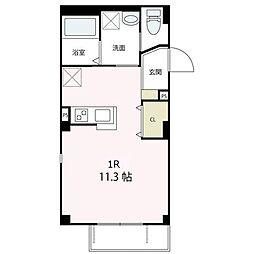 JR東海道本線 大船駅 徒歩6分の賃貸アパート 1階ワンルームの間取り