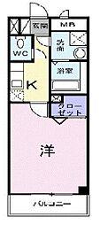 東京都府中市緑町1丁目の賃貸アパートの間取り