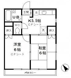 メゾン日吉[2階]の間取り