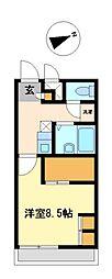 兵庫県姫路市安田3丁目の賃貸アパートの間取り