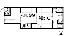 尾崎文化[1階]の間取り