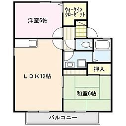 ファミーユシャトー[2階]の間取り
