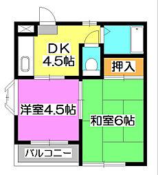 ハイツ武蔵[3階]の間取り