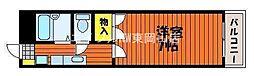 岡山県岡山市中区桜橋1丁目の賃貸マンションの間取り