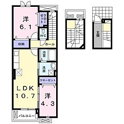 サニーヒル[3階]の間取り