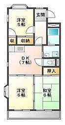 クリアサイト横吹II[2階]の間取り