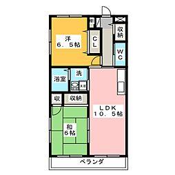 ディナール千代田[3階]の間取り