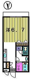 第7クレスト吉原[1-E号室]の間取り