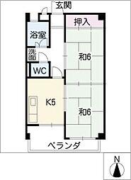 高砂コーポラス[1階]の間取り