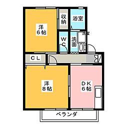 メゾンドプチマロン水堀[2階]の間取り