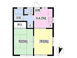 タウンハウスオオヤマIII[106号室]の間取り