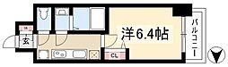 アステリ鶴舞ディオ 4階1Kの間取り