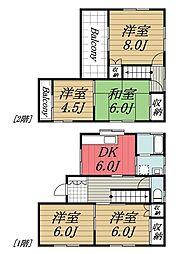 [一戸建] 千葉県千葉市若葉区みつわ台5丁目 の賃貸【/】の間取り