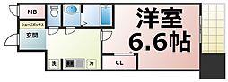 Osaka Metro中央線 緑橋駅 徒歩5分の賃貸マンション 9階1Kの間取り