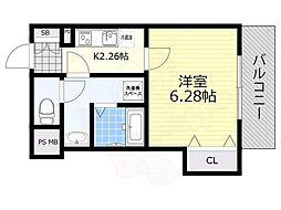 Fstyle天美東 1号館 1階1Kの間取り