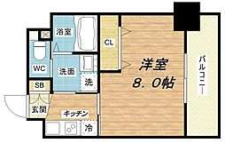 プランドール江戸堀レジデンス[6階]の間取り