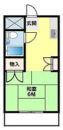 名鉄豊田線 浄水駅 4.2kmの賃貸アパート 1階1Kの間取り