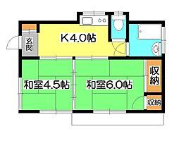 [一戸建] 埼玉県所沢市南住吉 の賃貸【/】の間取り