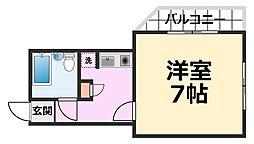ホープフル潮江[202号室号室]の間取り