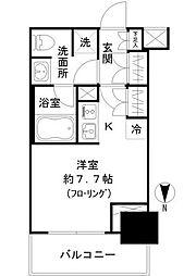 都営三田線 芝公園駅 徒歩3分の賃貸マンション 2階1Kの間取り
