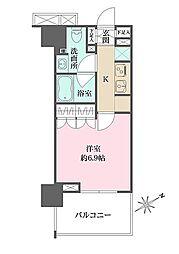 JR総武本線 馬喰町駅 徒歩8分の賃貸マンション 3階1Kの間取り