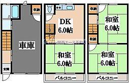 [一戸建] 大阪府東大阪市御厨3丁目 の賃貸【大阪府/東大阪市】の間取り