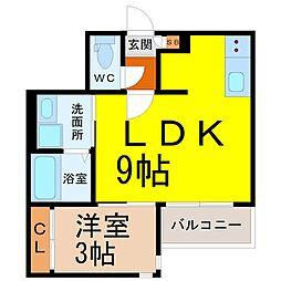 (仮称)GRANDTIC本笠寺 1階1LDKの間取り