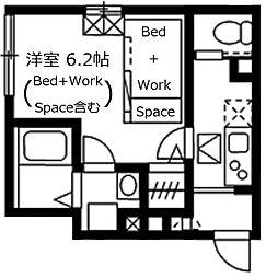 JR山手線 目黒駅 徒歩6分の賃貸アパート 1階1Kの間取り