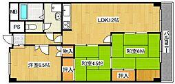 今福第2コーポ[2-113号室号室]の間取り