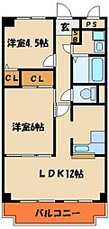 サニータウン 2[1階]の間取り