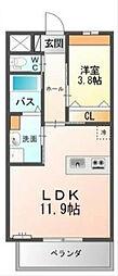 ヒルフォート六本松[1階]の間取り
