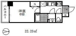 プレサンス兵庫駅前 5階1LDKの間取り
