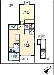 桜並樹[2階]の間取り