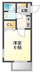 メゾン甲子園EAST[2階]の間取り