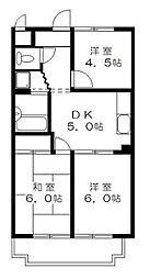 ヒヨシハイツ[1階]の間取り