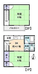 [タウンハウス] 千葉県八千代市勝田台北2丁目 の賃貸【/】の間取り