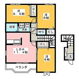 グランシエル・コウII B棟[2階]の間取り