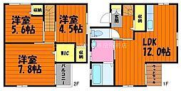 [一戸建] 岡山県倉敷市西阿知町西原丁目なし の賃貸【/】の間取り