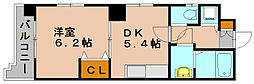 フローレス東比恵[2階]の間取り