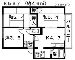 フラッツ誉田[201号室号室]の間取り