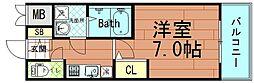 アドバンス大阪ベイストリート[8階]の間取り