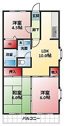 ベル・ビュー松戸[301号室]の間取り