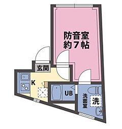 JoyousLife下高井戸(ジョイアスライフ下高井戸)[102号室]の間取り