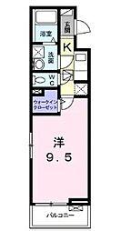 JR高徳線 栗林公園北口駅 徒歩15分の賃貸アパート 1階1Kの間取り