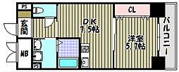 シティーコート大小路II[3階]の間取り