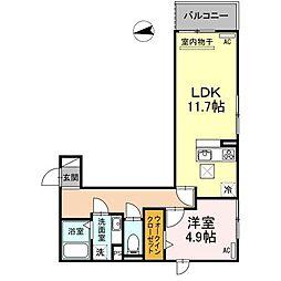 (仮)D-room刈谷市八幡町[1階]の間取り