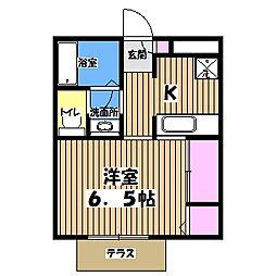 吉祥寺メゾンA[1階]の間取り